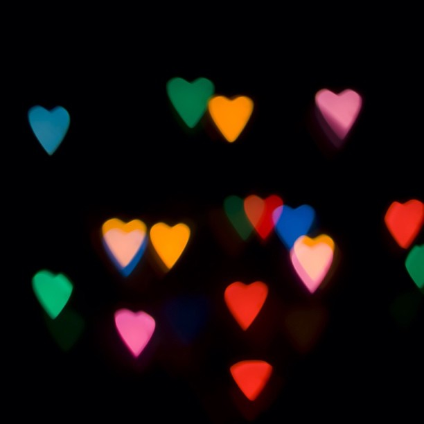 let's fall in love with neon hearts.